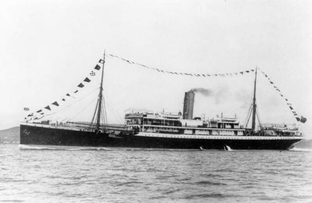 British 4,222 GRT passenger steamship that was built in 1905 and sunk with great loss of life in 1917